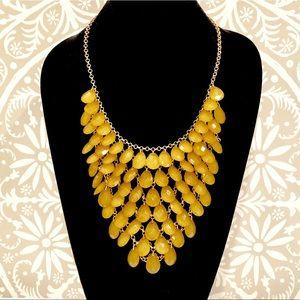 ASHLEYSTEWART yellow Teardrop bib necklace set NWT